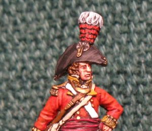 40mm (PE49), Napoleonic British Officer Perry Miniatures 1 Figure